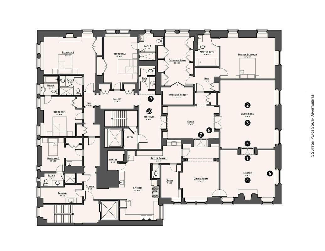 Streeteasy 1 Sutton Place South In Sutton Place 9cd Sales Rentals Floorplans Streeteasy Floor Plans Apartment Floor Plans New York Apartments