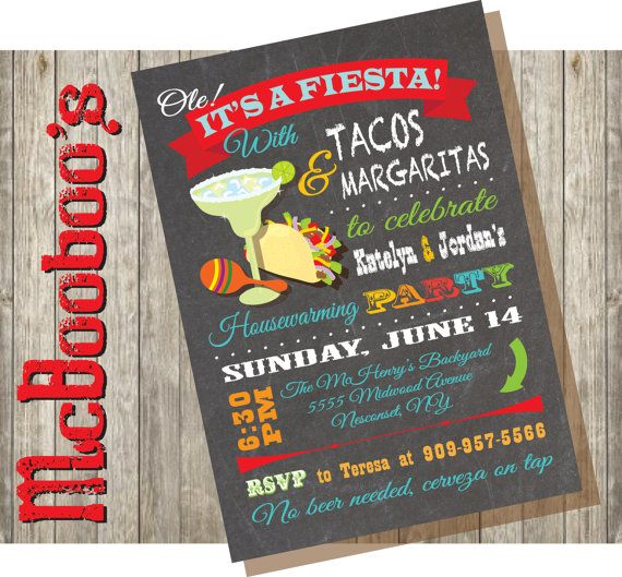 Mexican Fiesta House Warming Party Invitations | House ...