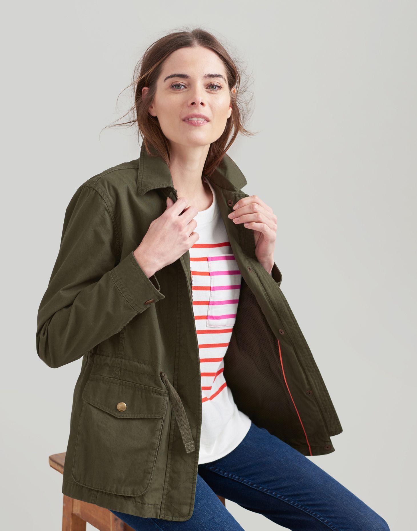 Corinne Dark Green Lightweight Casual Jacket Joules Us Safari Jacket Fashion Casual Jacket [ 1860 x 1460 Pixel ]