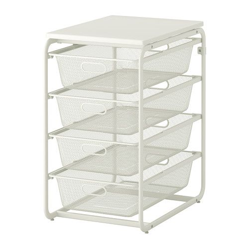 Ikea Algot 45 00 Frame With 4 Mesh Baskets Top Shelf Stands Steady