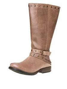 sheego wide shaft boots genuine leather plus size Women