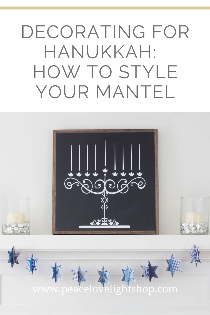 Decorating For Hanukkah How To Style Your Mantel Chanukah Decor Decor Hanukkah Decorations