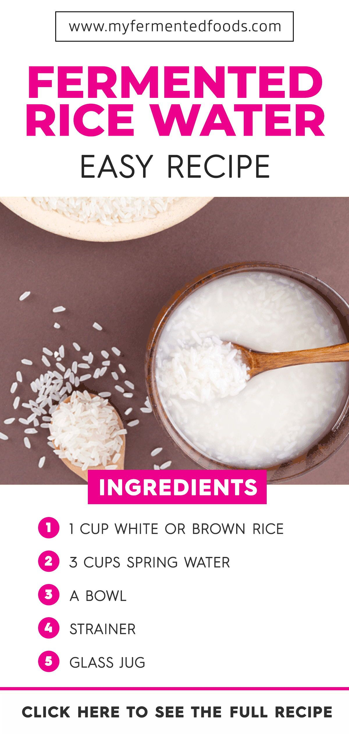 Fermented Rice Water Benefits For Skin And Hair Includes Recipes My Fermented Foods Rice Water Benefits Water Benefits For Skin Rice Water Recipe