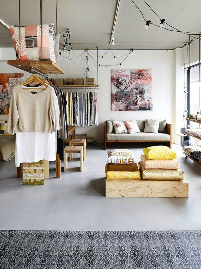 How cool is this studio apartment? Arrange furniture to section ...