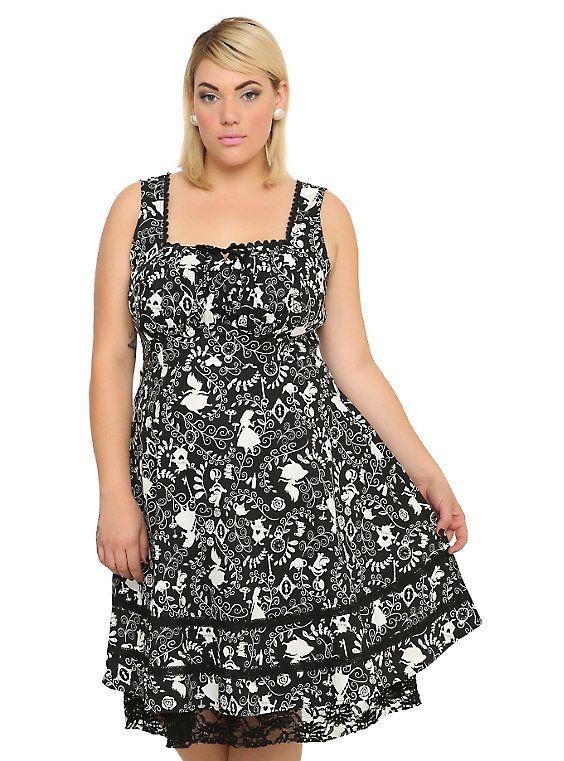 Disney Alice In Wonderland Sweetheart Dress Plus Size | Dresses ...