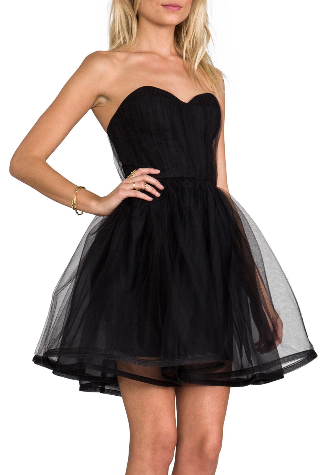 bb40fac105 Black Gathered Cinched Waist Pouf Dress