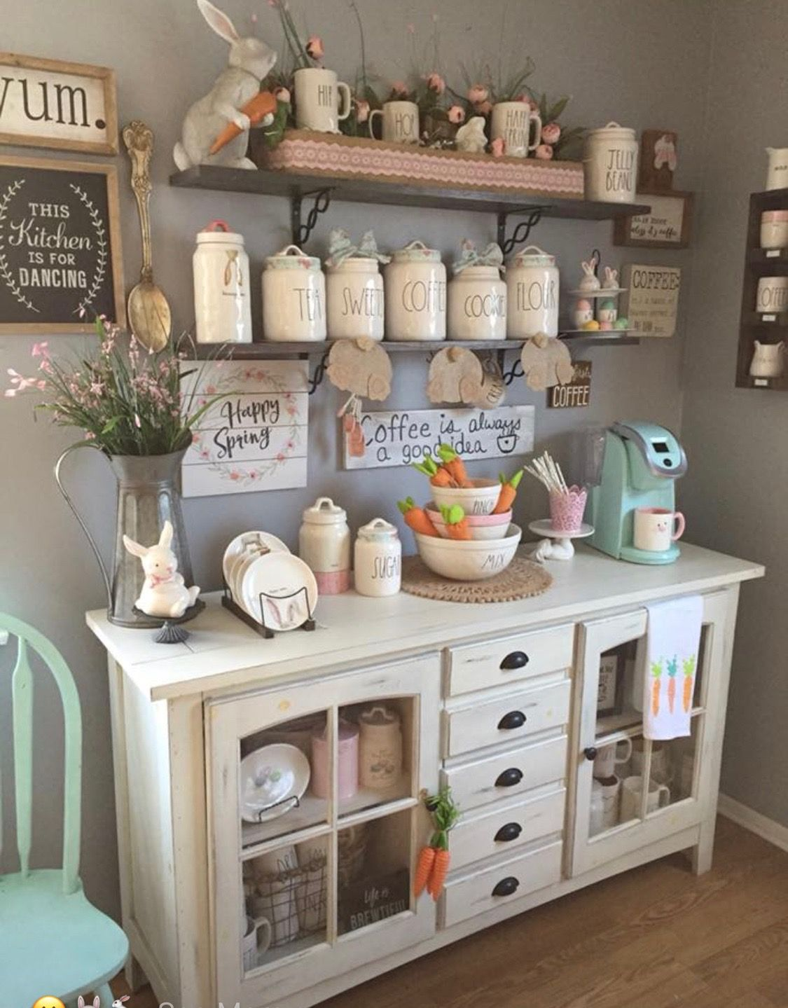 Love the cabinet for extra kitchen storage | Rae Dunn in ...