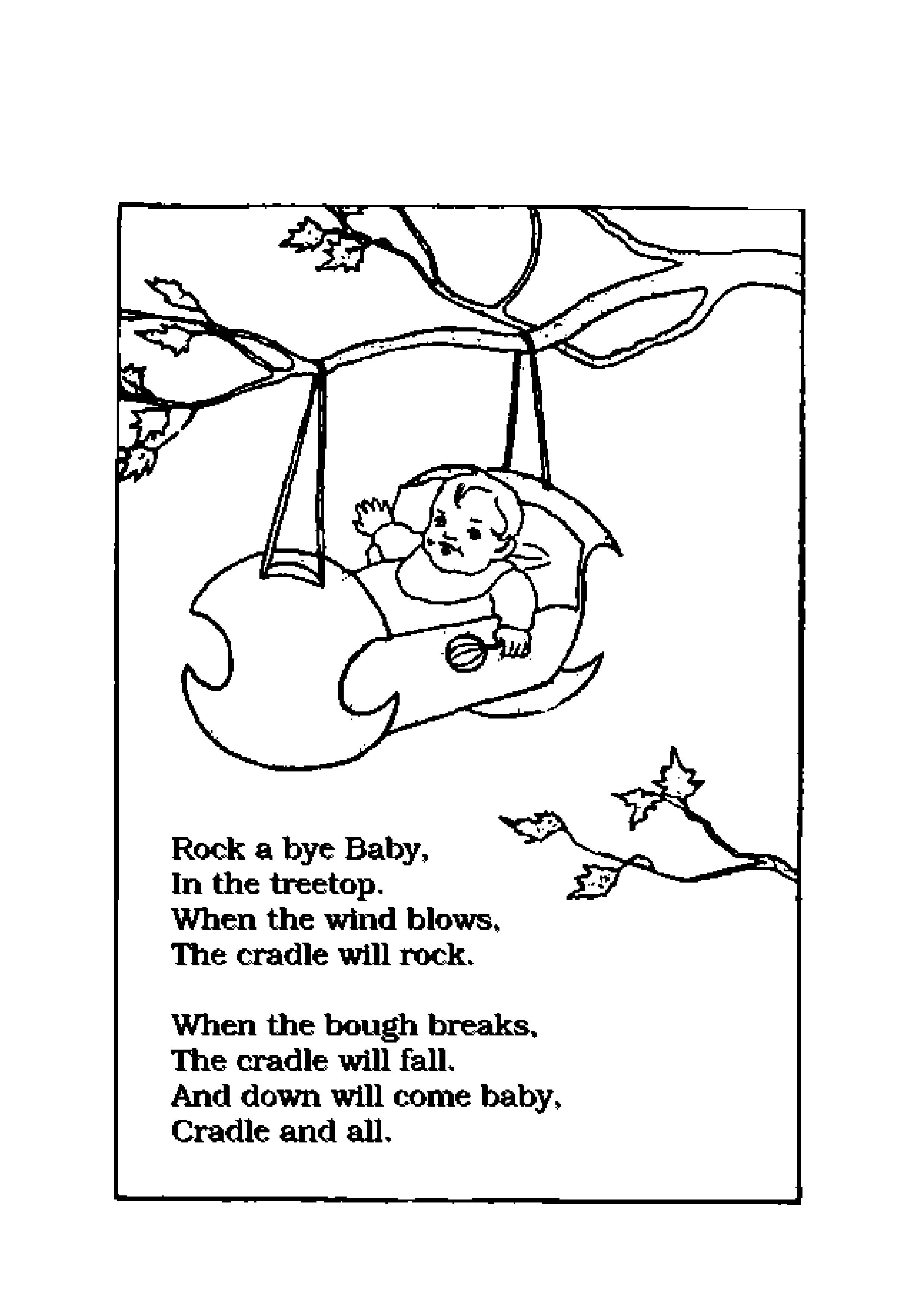 nursery rhymes coloring pages printable free download sheets for kids to draw and color activity 49jpg 24793508