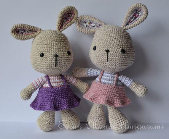Amigurumi Conejo Paso A Paso : Easter bunny amigurumi pattern conejo de pascua explicacion y