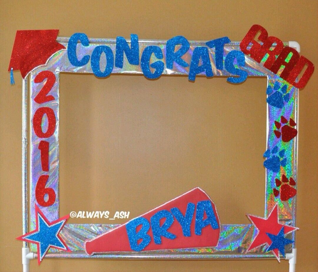Highschool Graduation Photo Booth Frame