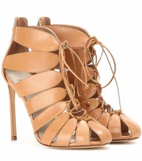 Cut-out leather ankle boots Francesco Russo DHb4hBpq