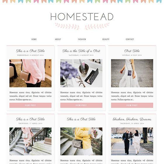Blogger Template Homestead Blog designs, Template and Design web