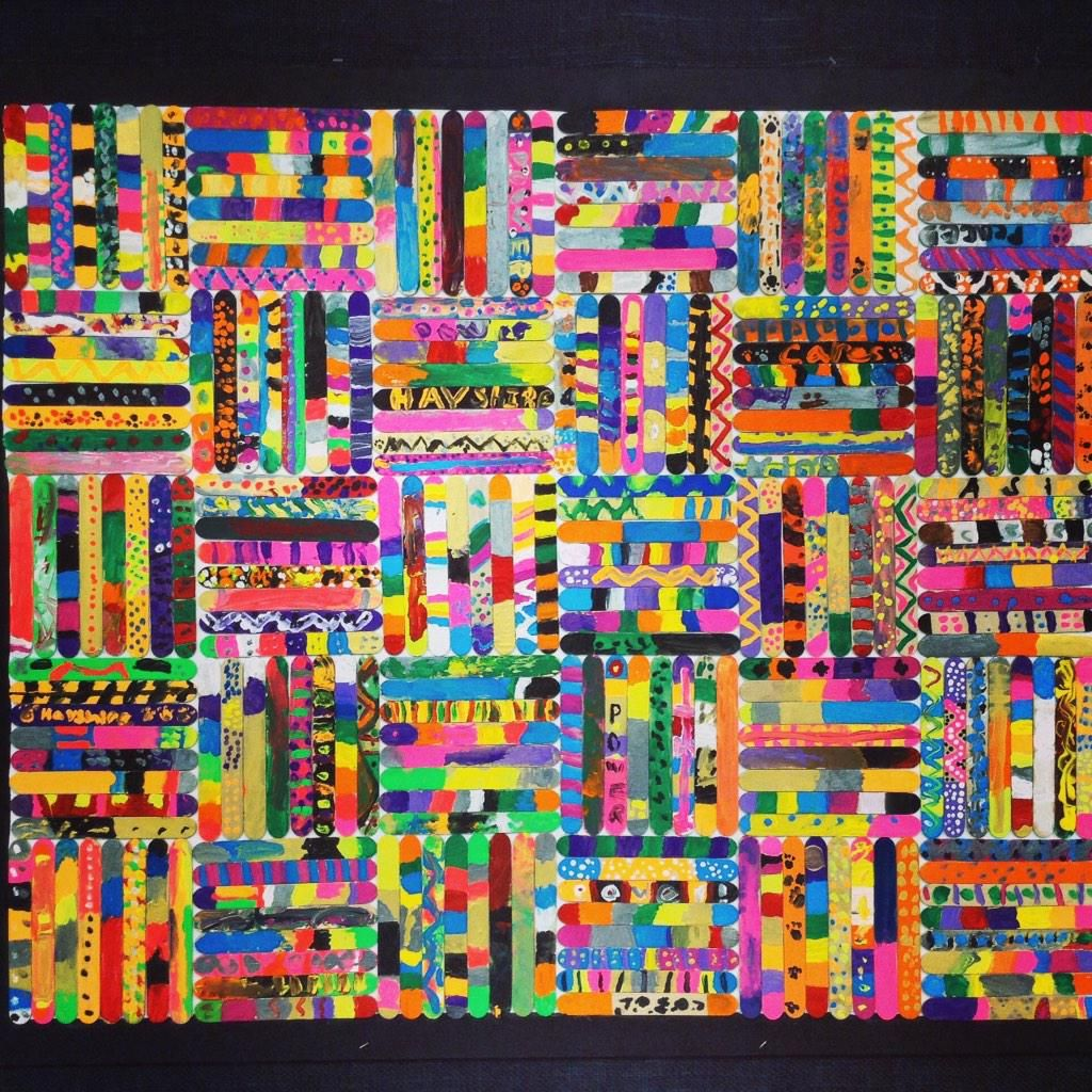 Mrs black on collaborative art craft and school for Popsicle art projects