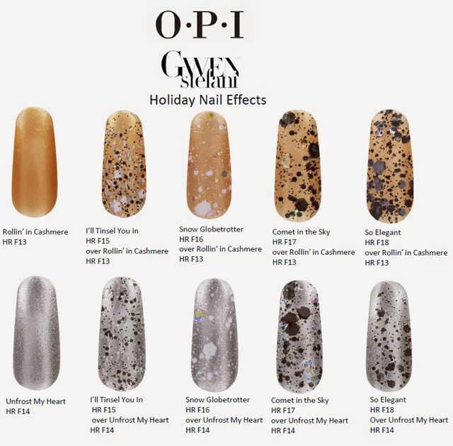 OPI Holiday 2014 Gwen Stefani New Nail Lacquers