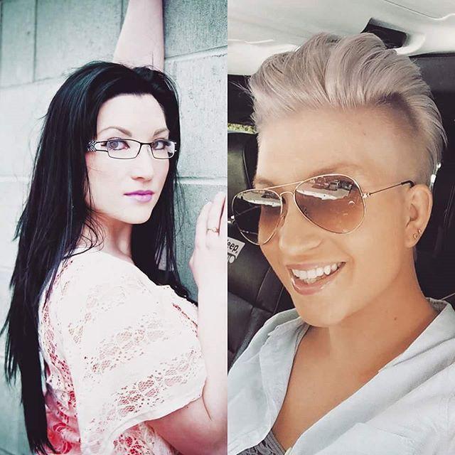 Hübschen Vorher Nachher Frisuren Von Lang Auf Kurz! Just Too Cute