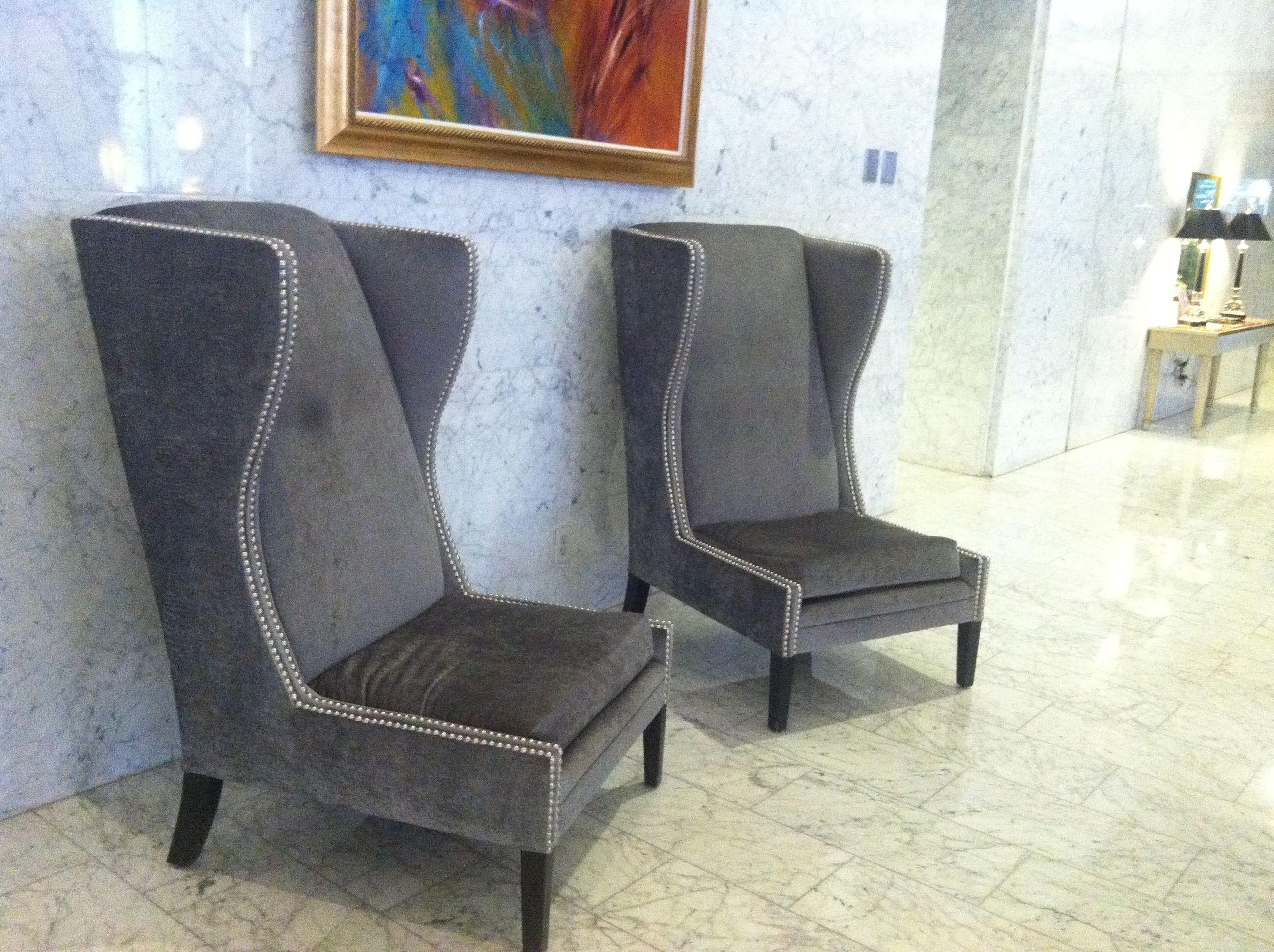 Wing back chairs hotel nikko san francisco home inspiration