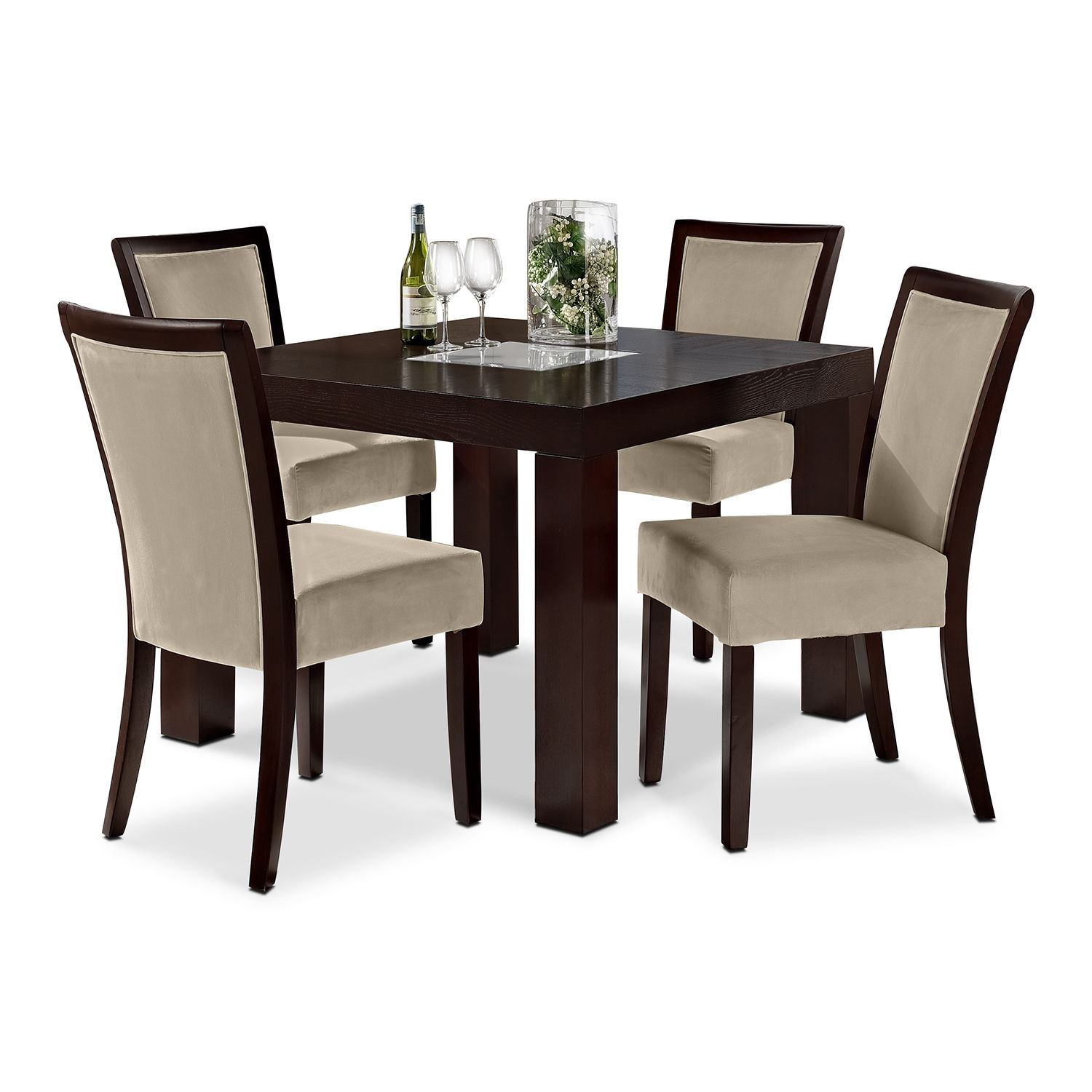 """Tango Stone 5 Pcdinette 42"""" Table  American Signature Classy American Signature Dining Room Sets Review"""