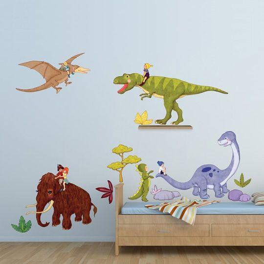 Fotos de cuartos decoraci n con dinosaurios cuartos de for Stickers para habitaciones