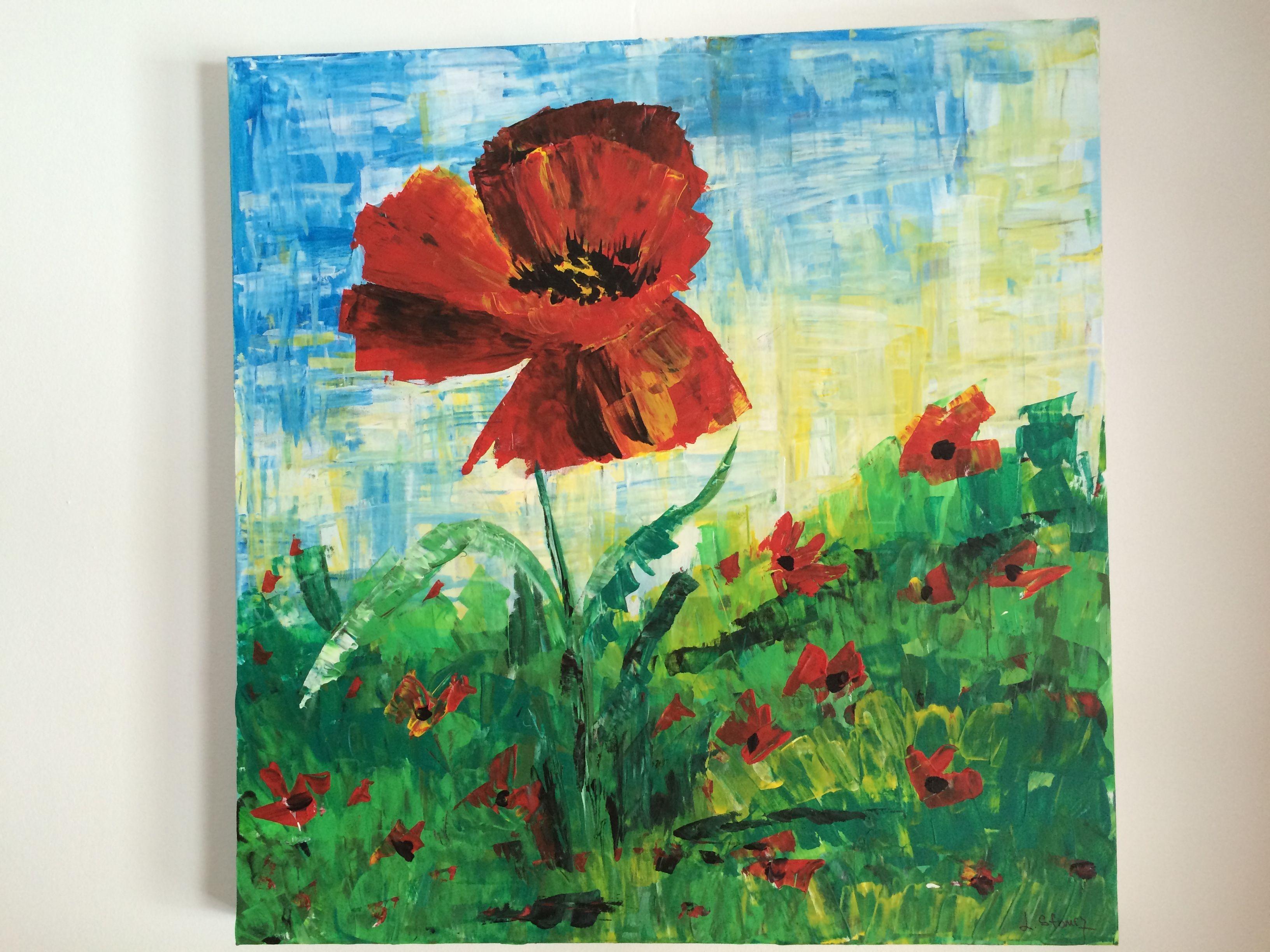 big poppy i acryl auf leinwand 80x80 linde scheune fotogeschenke hochzeitsfoto