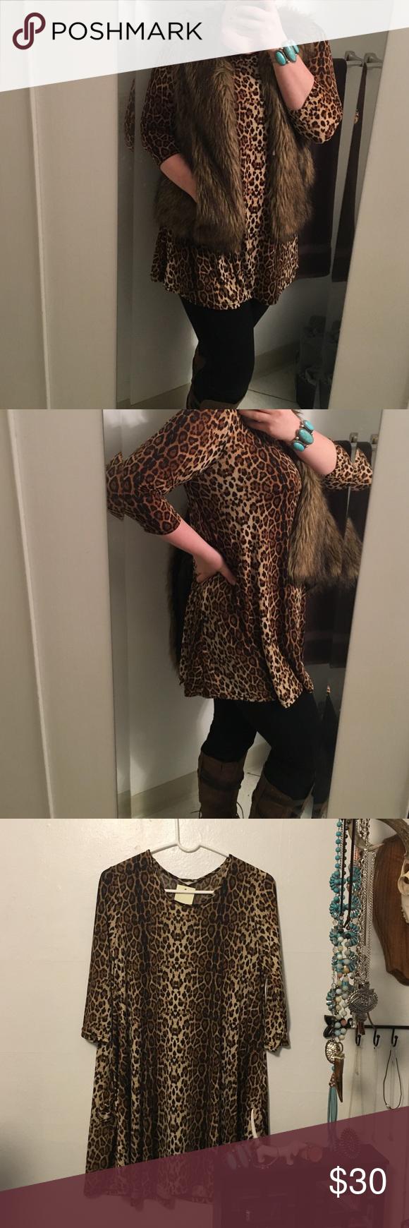 Leopard dress NWT. smoke free home, open to offers Southern Stitch Dresses Midi