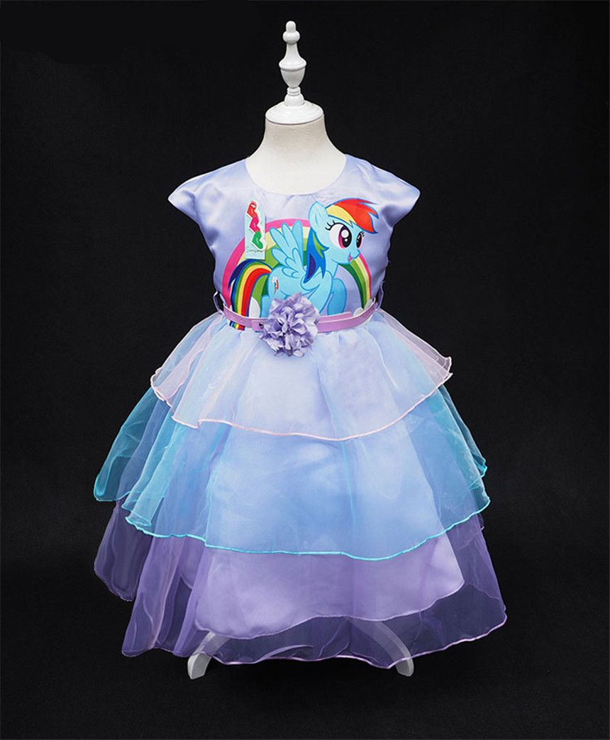 fbbfc6c08053 New Unicorn Color Girls Chifon Dress in 2019 | Time to be a Unicorn ...