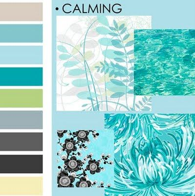 calming color palette, lovely i want this over the whole house