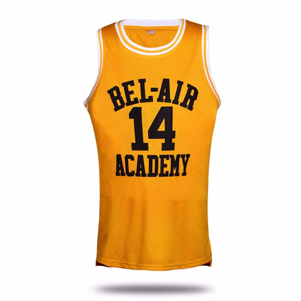 9cac95ccc15 VTURE Basketball T-shirts Will Smith  14 Bel Air Academy Basketball Jerseys