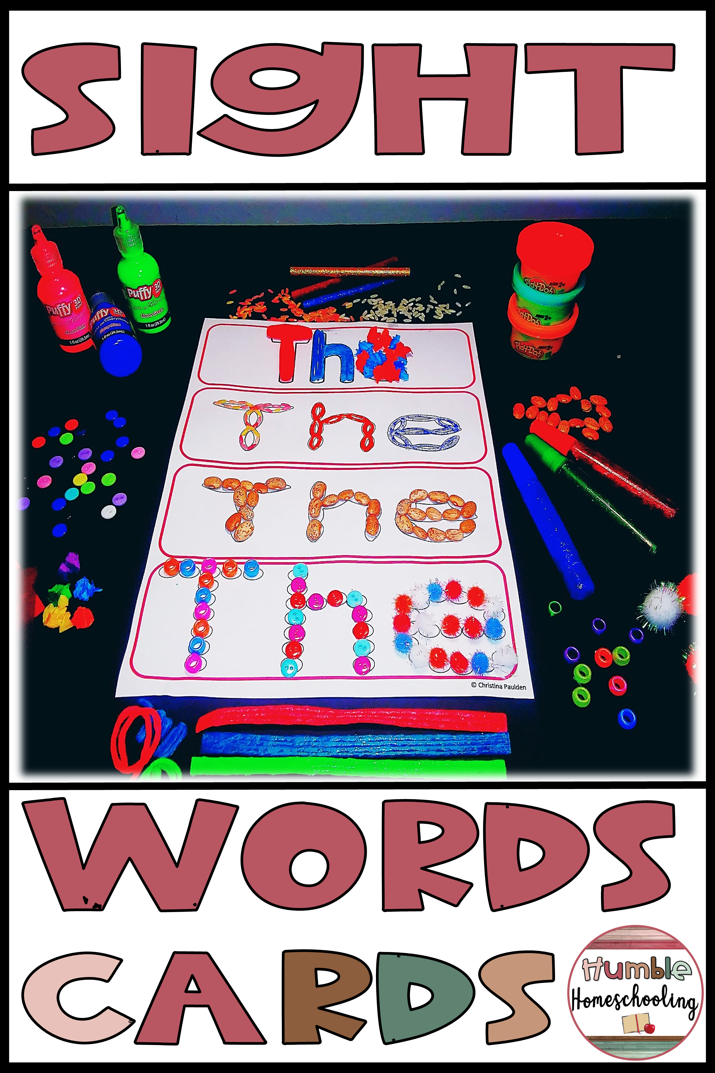 Sight Word Practice Cards