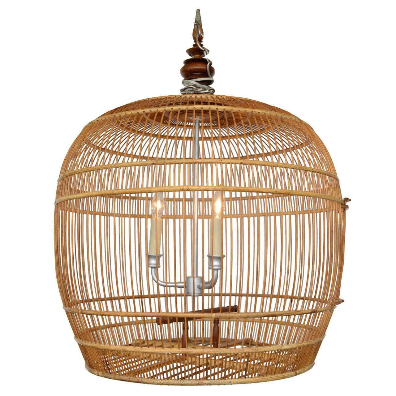 Fabulous bird cage bamboo chandelier bird cages and chandeliers fabulous bird cage bamboo chandelier arubaitofo Image collections