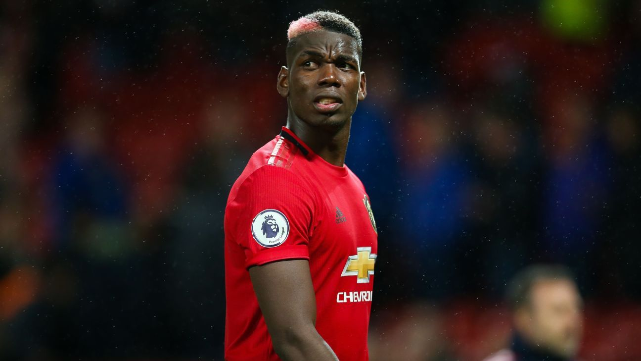 Pogba Happy At Man United Wants To Win Trophies With Club Raiola Man United Manchester United Team Premier League News