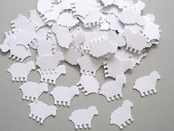 100 moutons blancs punch découpe embellissements de par BelowBlink