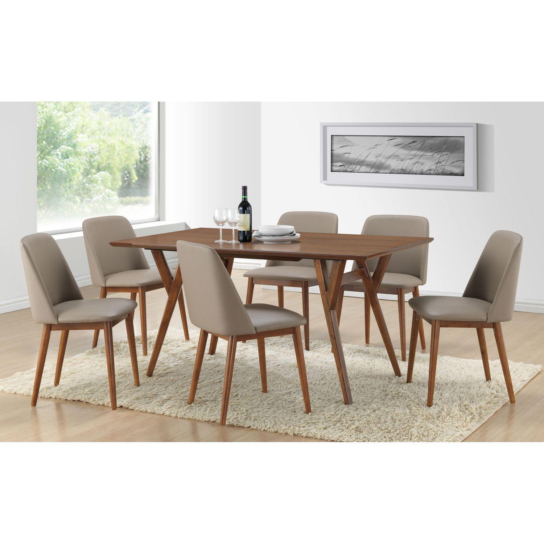 Wholesale Interiors Baxton Studio Lavin 7 Piece Dining Set | Home ...