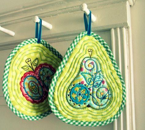 jolijou: pot-holders DIY in-the-hoop.... | Leuk idee | Pinterest ...