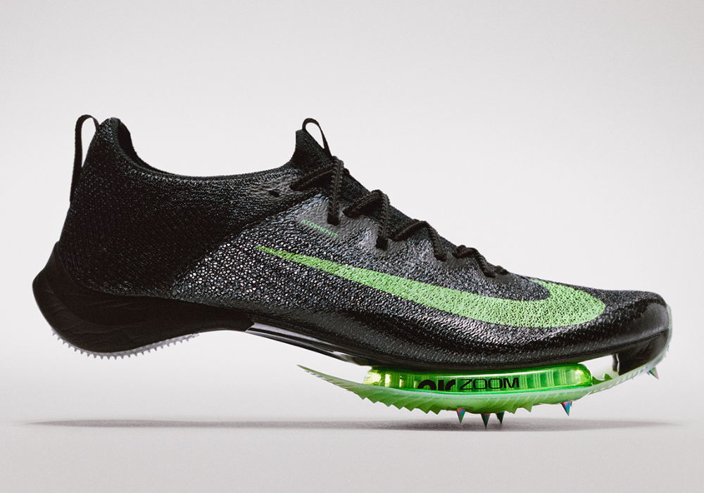 green nike running shoes