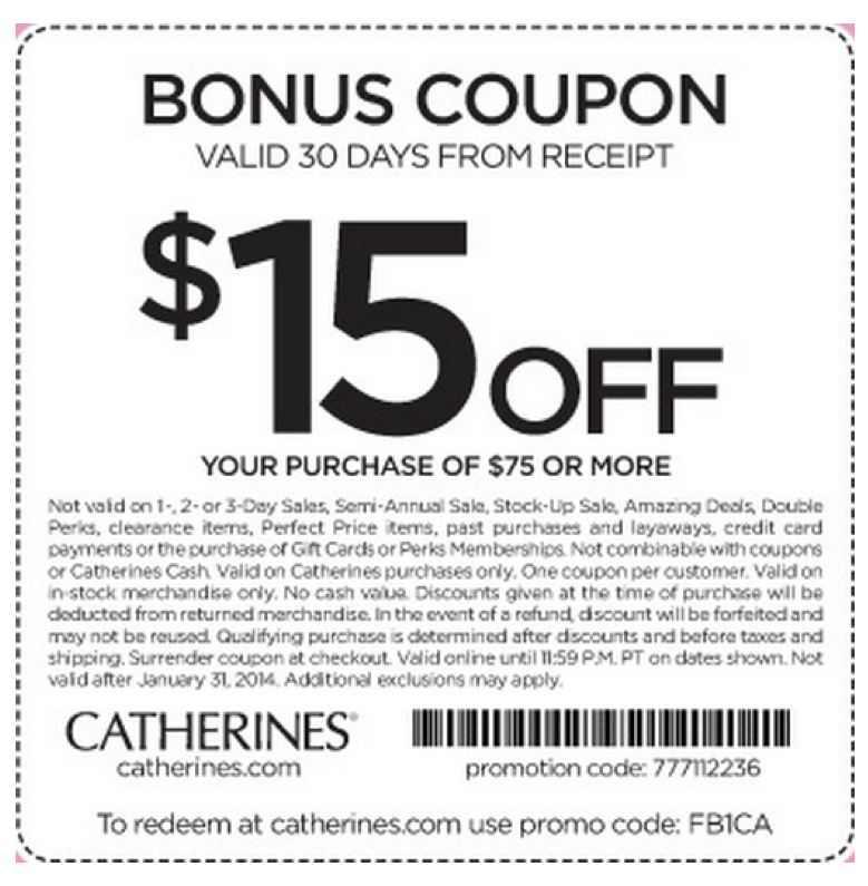 Catherines Printable Coupon Printable Coupons Coupons Catherines