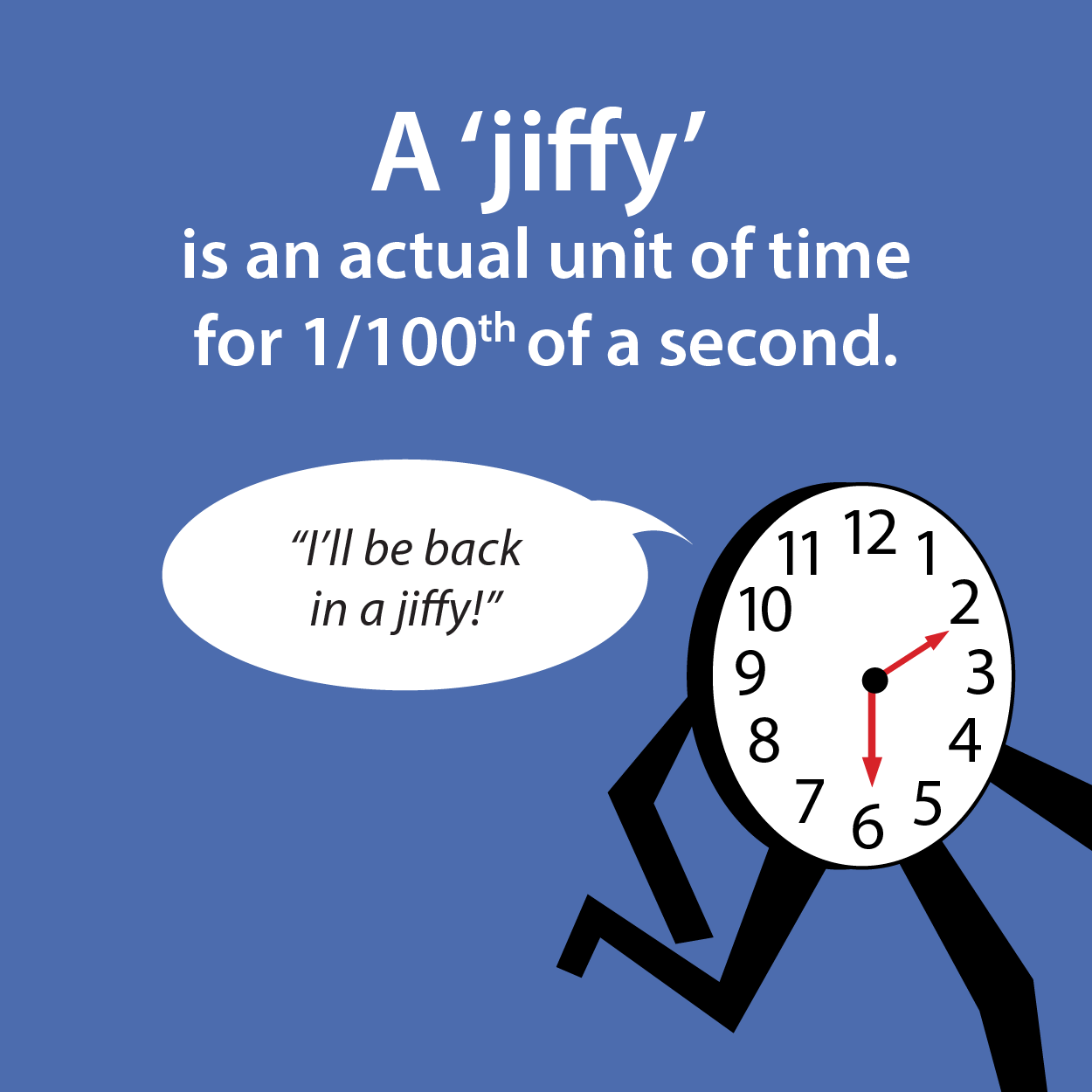 Math Fact- A \'jiffy\' is an actual unit of time for 1/100th of a ...