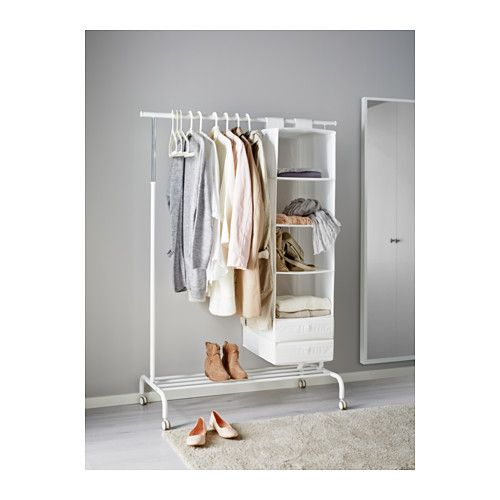 RIGGA Riel con soporte - blanco, - - IKEA | Vestidores | Pinterest ...