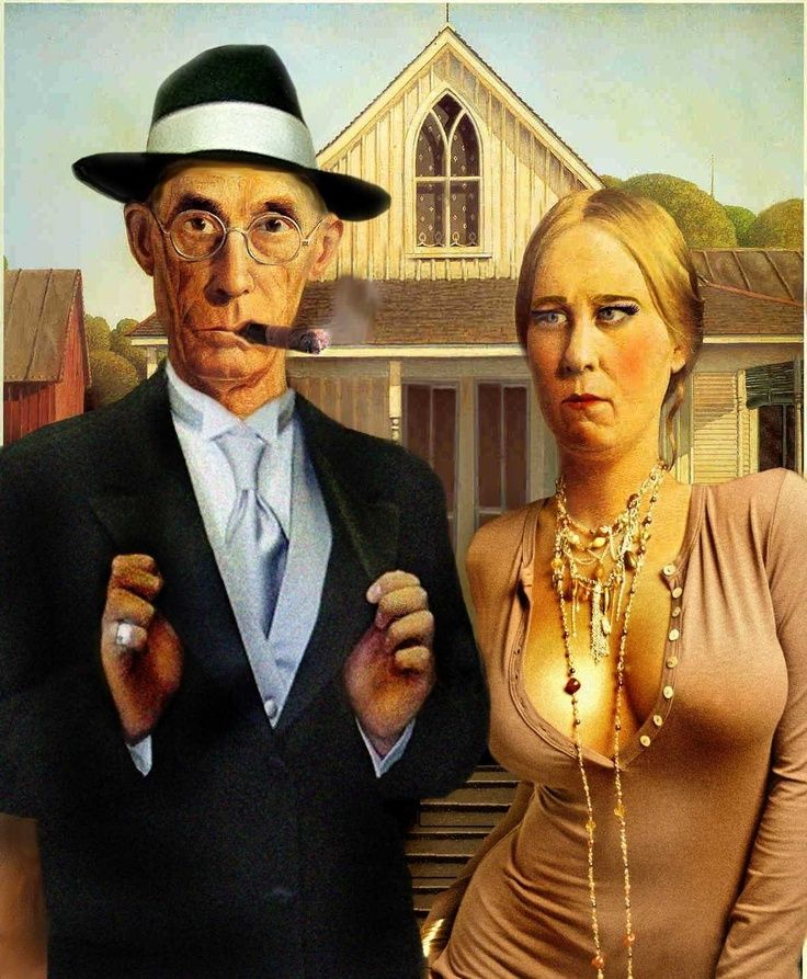 American Gothic High Commissioned By The 420 Times To Create A Cover Illustration Based On Classic Grant Wood Painting For Special