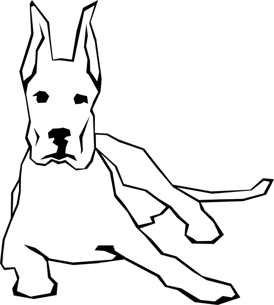 Style Option 1 Love The Lines Prefer Rounded Vs Jagged Angular This Great Dane And The Lab Style The Lines How Dog Sketch Easy Drawings Dog Sketch Easy