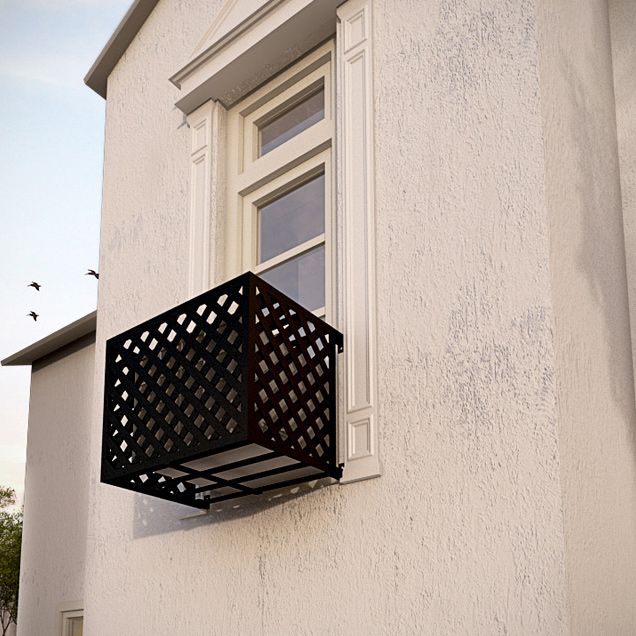 Arch Iron Air Conditioning Cover Window Guard Balcony Store In
