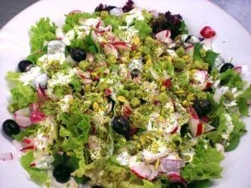 Griechischer Salat mit Fetadressing - Rezept