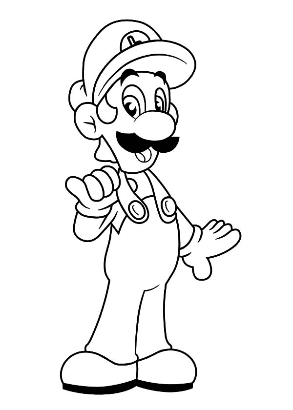 Luigi Wearing Workshop Clothes Coloring Pages Download Print Online Coloring Pages For Free Color Ni Online Coloring Pages Coloring Pages Online Coloring