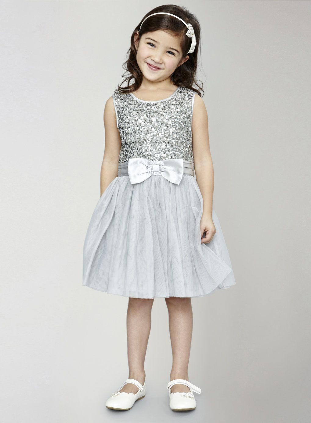 younger girls silver sequin tutu dress  bhs  silver