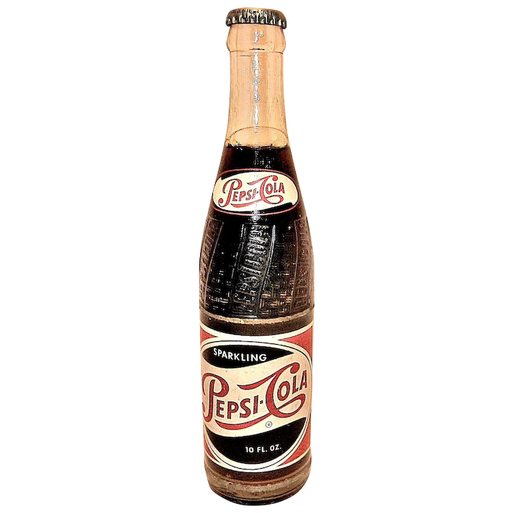 Vintage Sparkling Pepsi Cola Soda Bottle With Full Contents From A Small Drug Store To The World S Largest Selling Cold Drink Pepsi Cola Soda Bottles Bottle