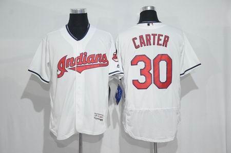 8013bdab3 New Cleveland Indians Mens Jerseys 30 Joe Carter White Flexbase Collection  Baseball Jersey