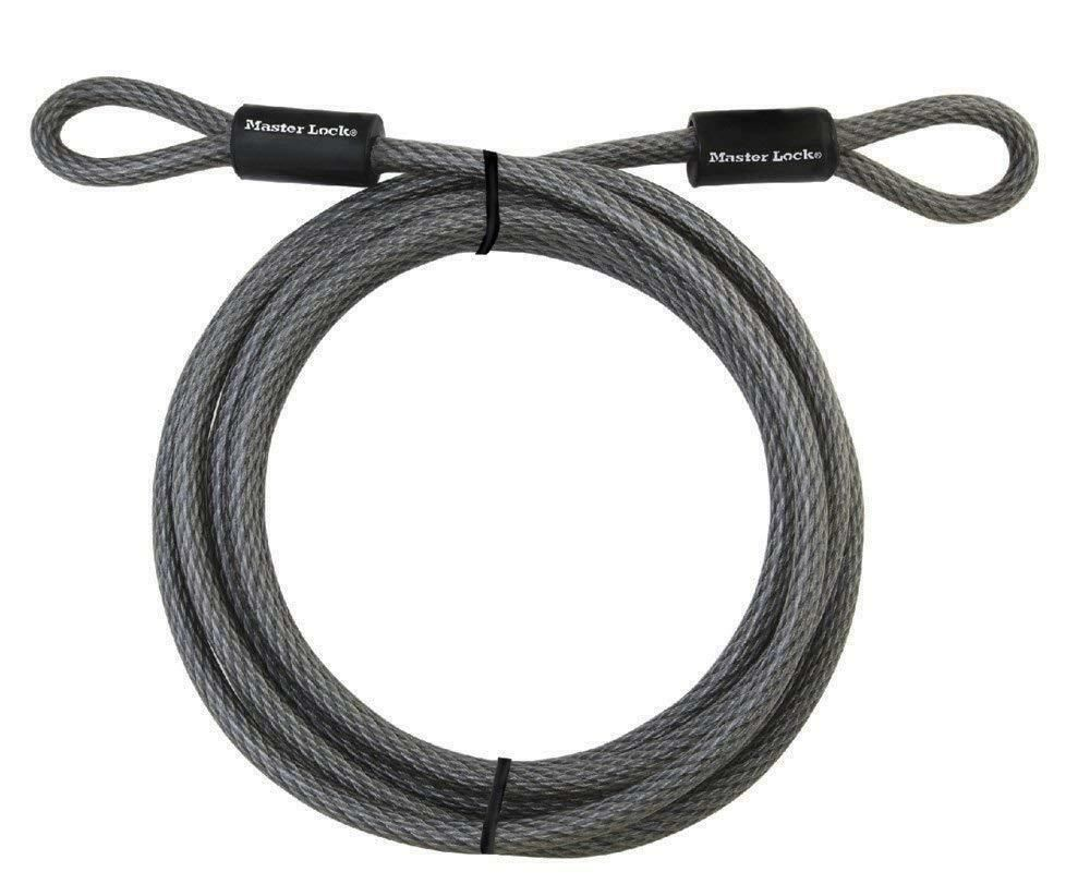 Sponsored Ebay Master Lock Cable Steel Cable With Looped Ends 15 Ft Long 72dpf Bicycle Accessories Security Cable Heavy Duty