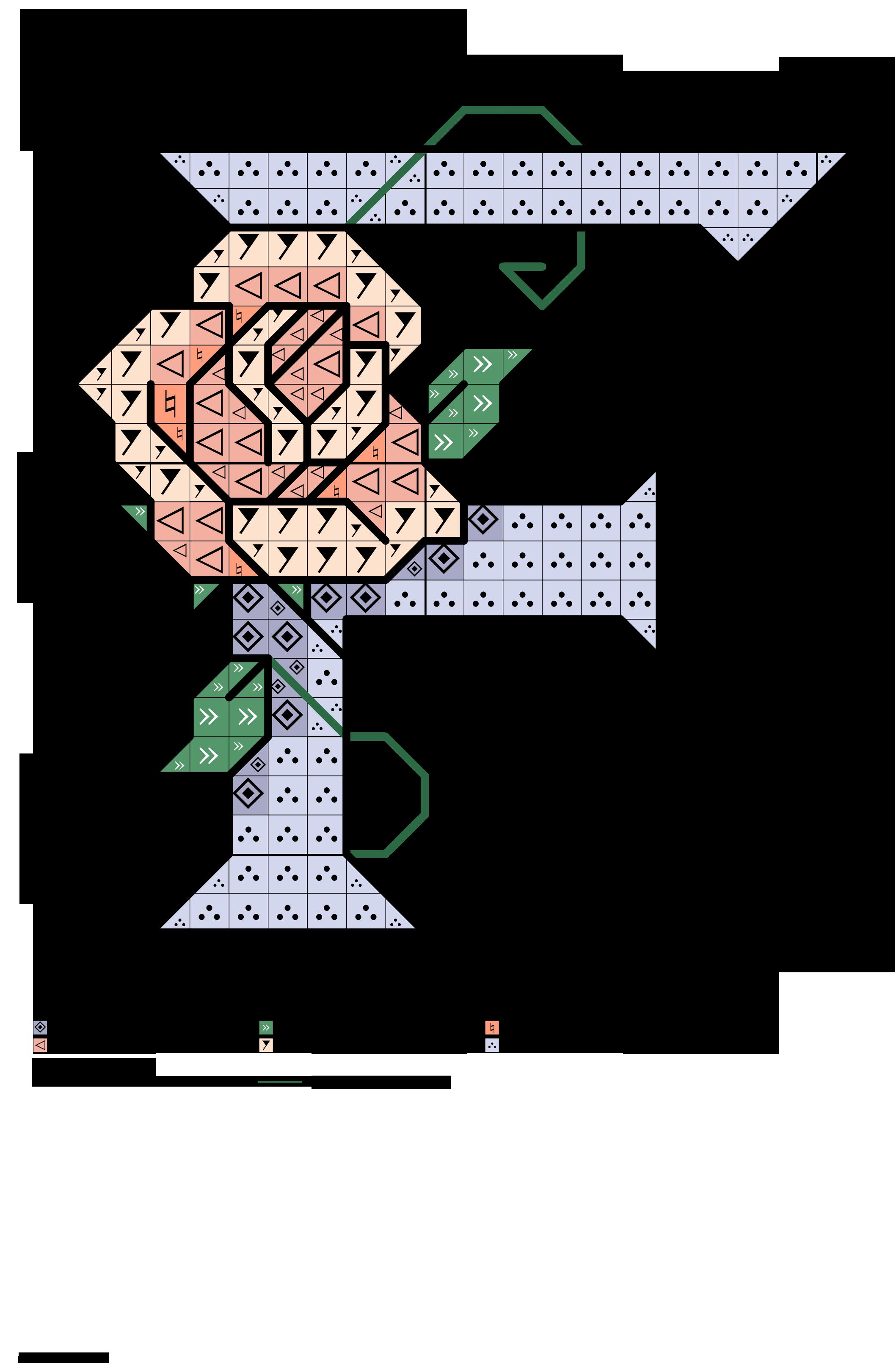 alfabeto celeste con le rose: F