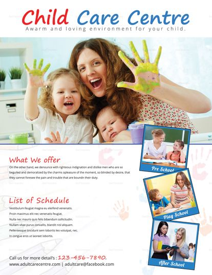 Child Care Centre Flyer Template