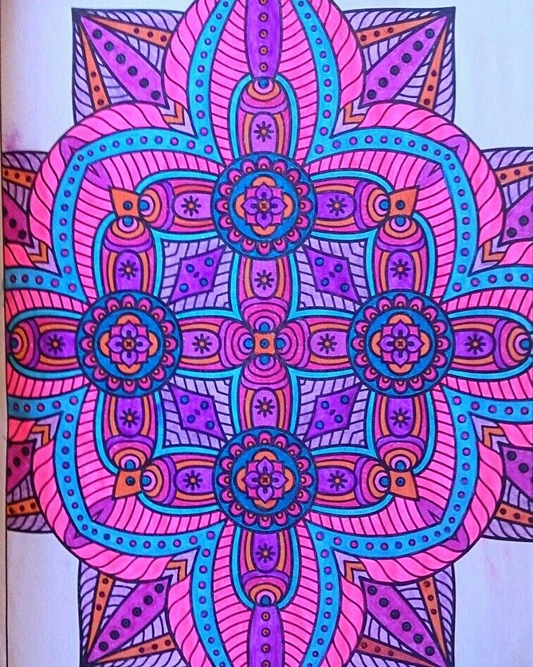 Coloring Page From Mandala Book I Use Gel Pens By Me