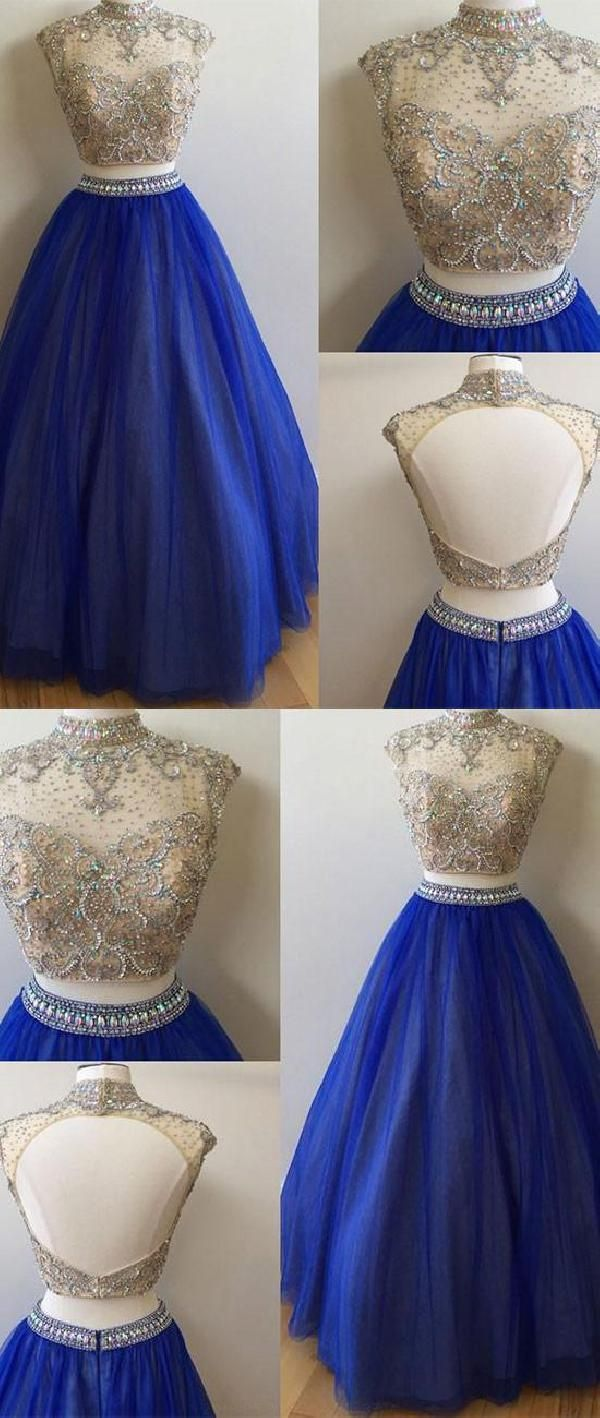 Customized popular blue prom dresses long prom dresses sequin prom
